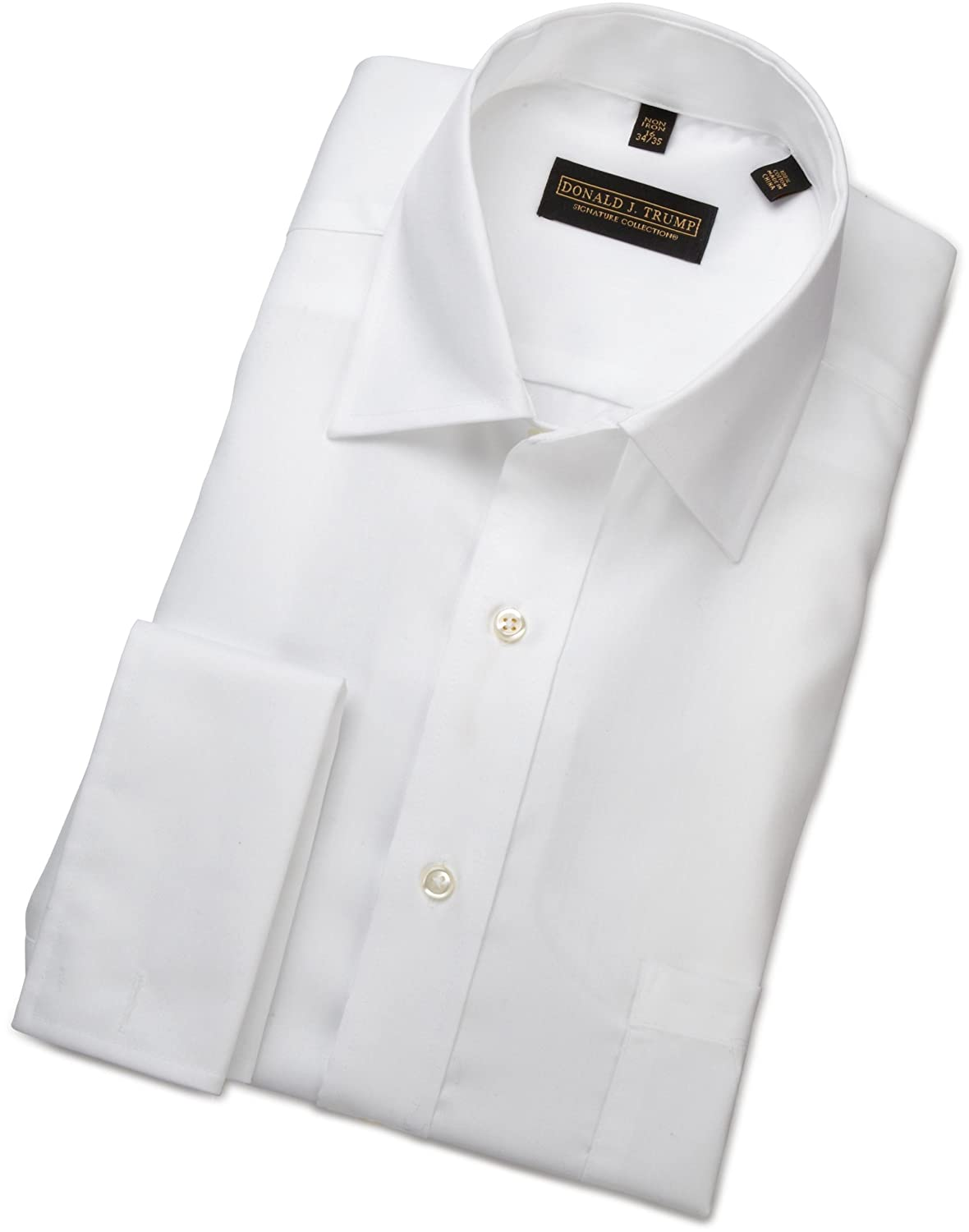 Donald Trump French Cuff Dress Shirt (White)