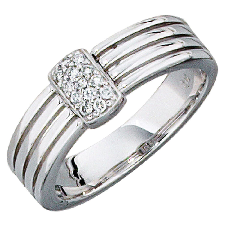 Damen-Ring 585 Weißgold 13 Diamant-Brillanten als Geschenk
