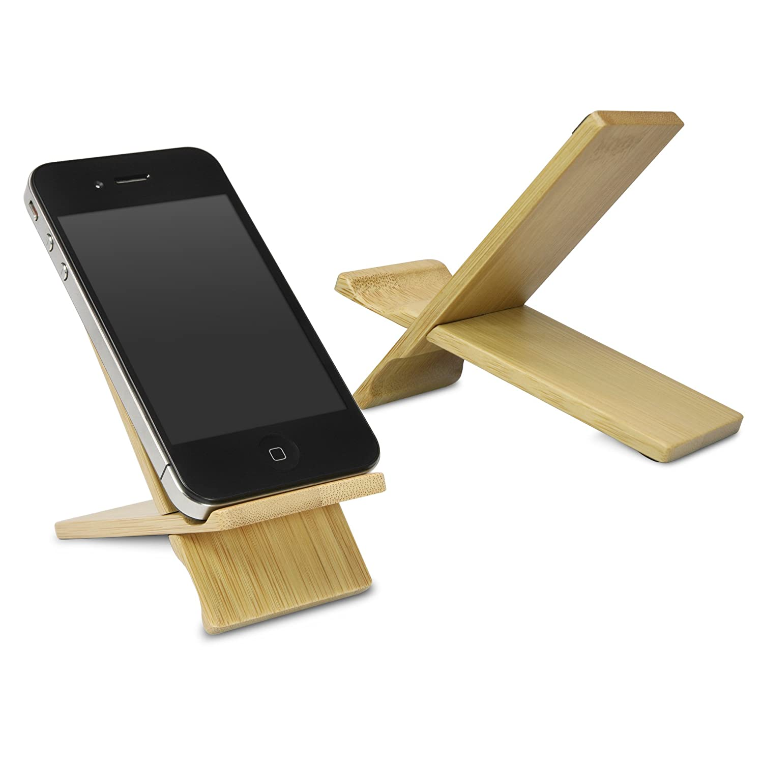 BoxWave HTC Hero Bamboo Natural Panel Stand, Premium Bamboo, Real Wood Stand for your HTC Hero - Small htc hero cdma