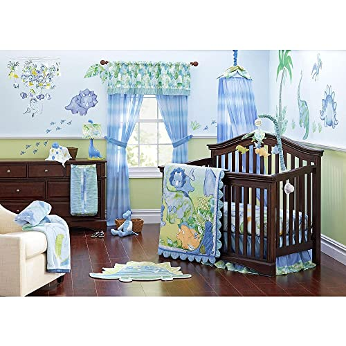 Truly Scrumptious Dinosaur Tracks Nursery Bedding Collection 4 Piece Crib Set