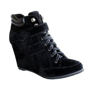 Waooh - Mode - Baskets compensées Enza Nucci MR7006 - Noir   Commentaires en ligne plus informations