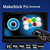 IST MAKESTICK PRO Universal (6 in 1) Gaming Gadget Arcade Joystick Controller for Playstation PS4 / PS3 / Windows PC/Xbox One/Xbox 360 / Nintendo Switch (Airback Lever, OBSF Sanwa Buttons)