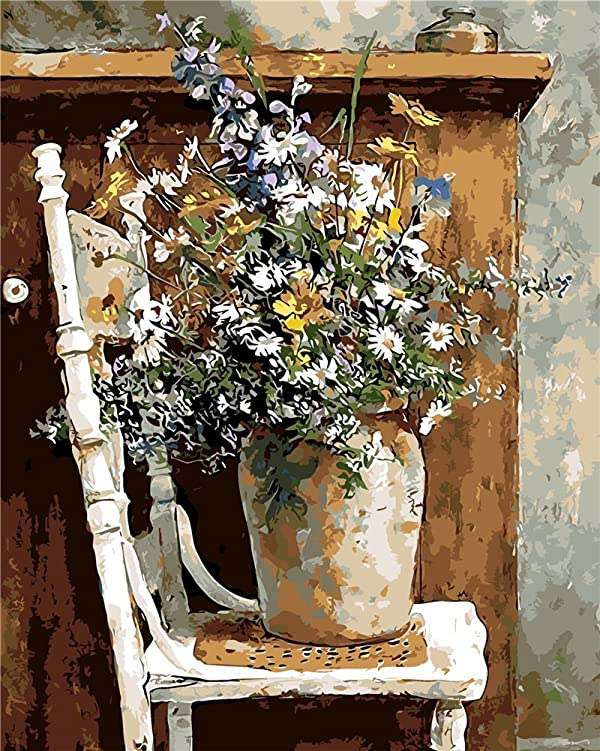 KXCFCYS DIY Oil Painting by Numbers Kit Theme PBN Kit for Adults Girls Kids White Christmas Decor Decorations Gifts - 6448 (Without Frame) (Color: Without Frame)