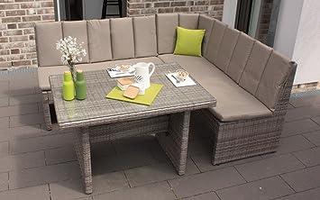Dining Lounge Houston Polyrattan Ecklounge Rattan Gartenmöbel Gartenlounge