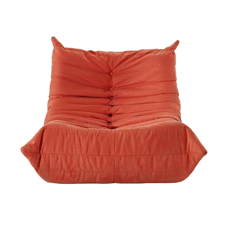 LexMod Waverunner Modular Sectional: Chair in Orange