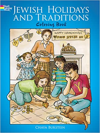 Jewish Holidays and Traditions Coloring Book (Dover Holiday Coloring Book)