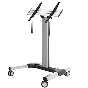PureLink PDS-2101C flat panel floorstand - flat panel floor stands (Portable, 45 - 90°, Silver, 200 x 200,600 x 400 mm, -3 - 3°, 200 x 200 mm)