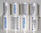 Sanyo Eneloop Spacer Pack: 4 Pack of C-size and 4 Pack of D-size Adapters