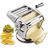 Ultimate Pasta Machine - Professional Pasta Maker - Unique Patented Suction Base for No-Slip Use of Stainless Steel Pasta Roller Machine - 150 mm - by Cestari Kitchen (Color: Stainless Steel, Tamaño: 150 mm)