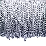 Aluminum Curb Chain Link in Bulk for Necklace Jewelry Accessories DIY Making 11 Yards 4.5mm Width (Color: Silver)