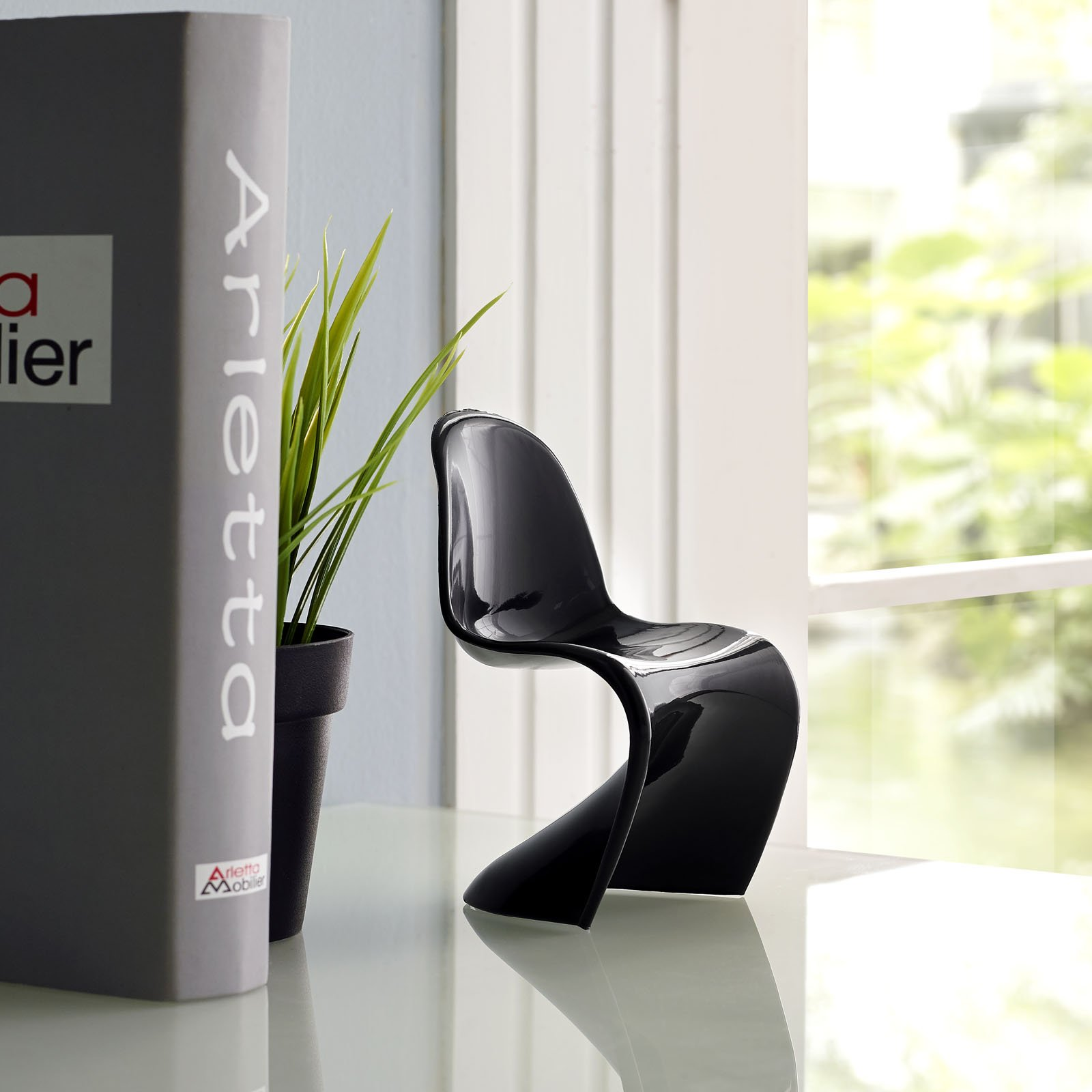 lexmod mini panton chair in black furniturendecor com