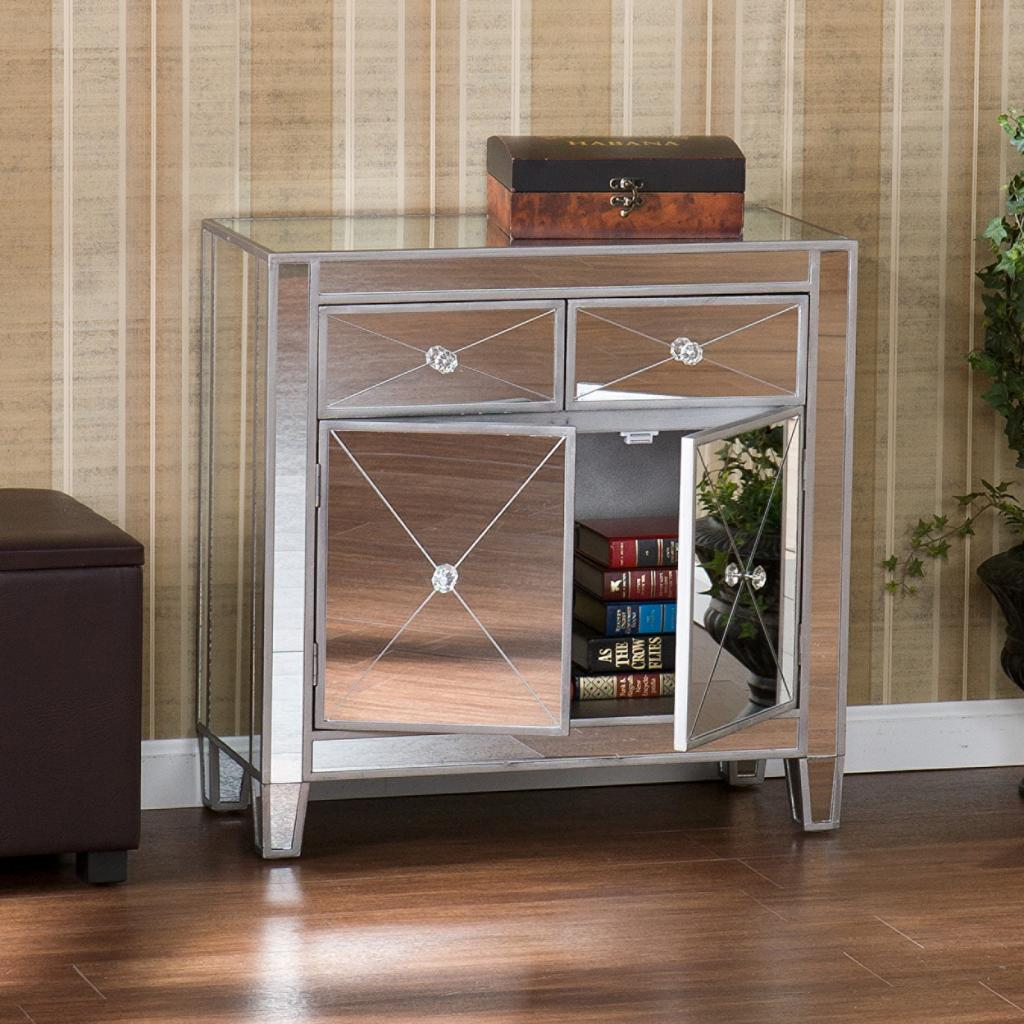 Mirrored Cabinet: Amazon.com: SEI Mirage Mirrored Cabinet: Furniture & Decor