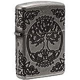 Zippo Armor Tree of Life Design Pocket Lighter (Color: Antique Silver)