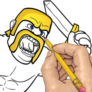 How to Draw Clash of Clans Barbarian