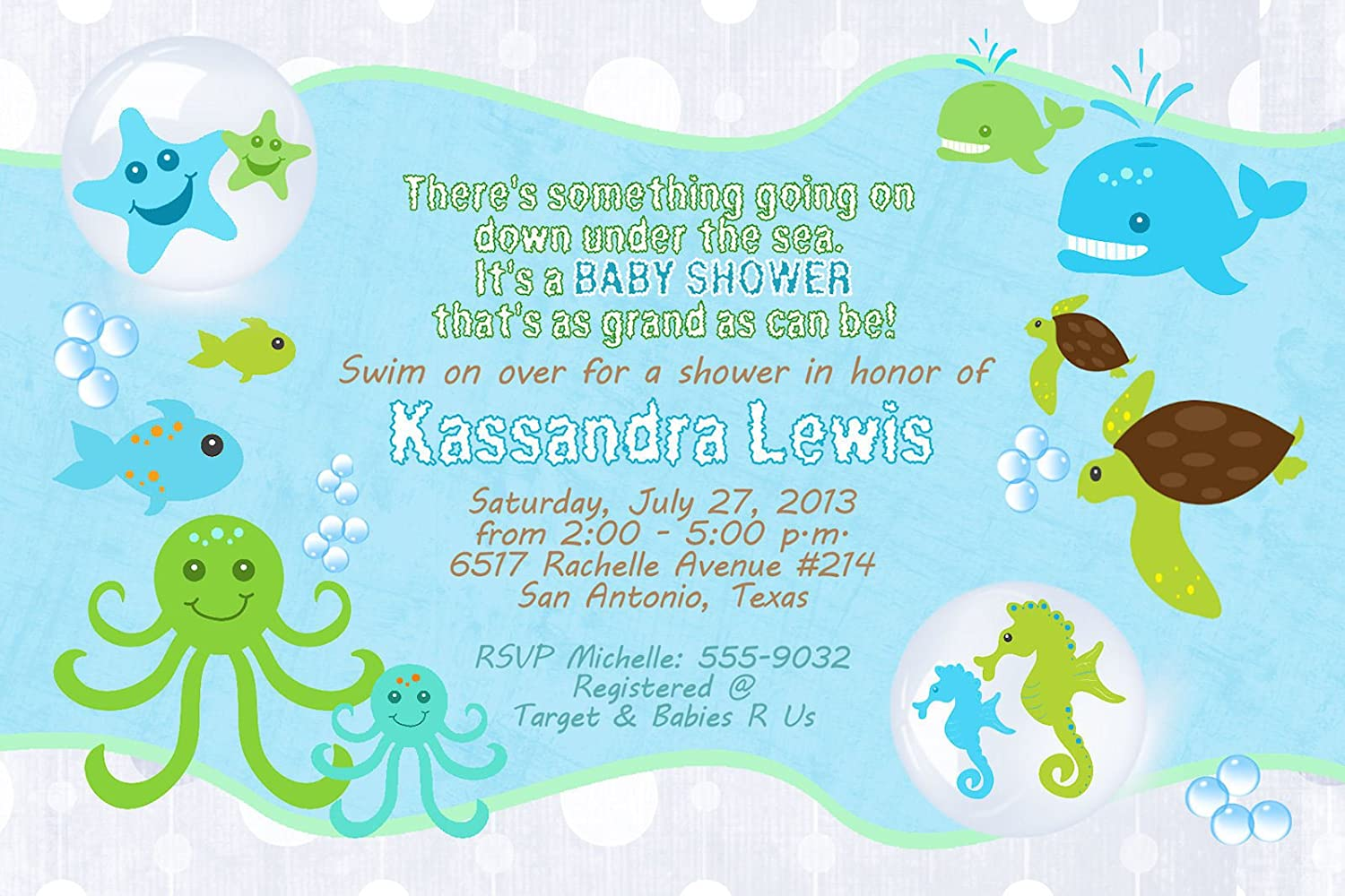 Ocean Boy Baby Shower Invitations | Baby Shower Mania
