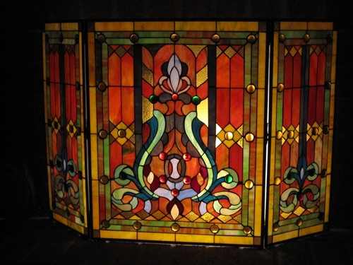 Stained Glass Fireplace Fireplace Screens On The Moon Studio