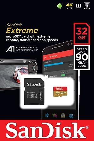 SanDisk Extreme 32GB microSDHC UHS-I Card - SDSQXAF-032G-GN6MA [Newest Version]