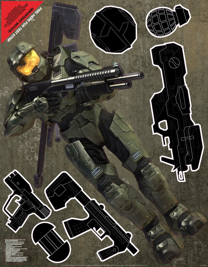 Wall Graphix: Masterchief Guns 23 x 29 gamer