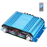 4 Channel Digital Amplifier with Romote Controller, HiFi Stereo SD Card USB MP3 Play Power Amplifier 180W Peak Power (Color: 4CH Blue, Tamaño: Amplifier)