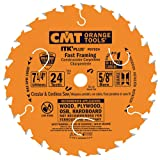 CMT P07024-X10 ITK Plus Fast Framing Saw Blade Masterpack, 7-1/4 x 24 Teeth, 10° ATB+Shear with 5/8-Inch<> bore - 10-Pack (Tamaño: D 7-1/4 184mm | T 24 | B 5/8 | K .069 | P .043 |)