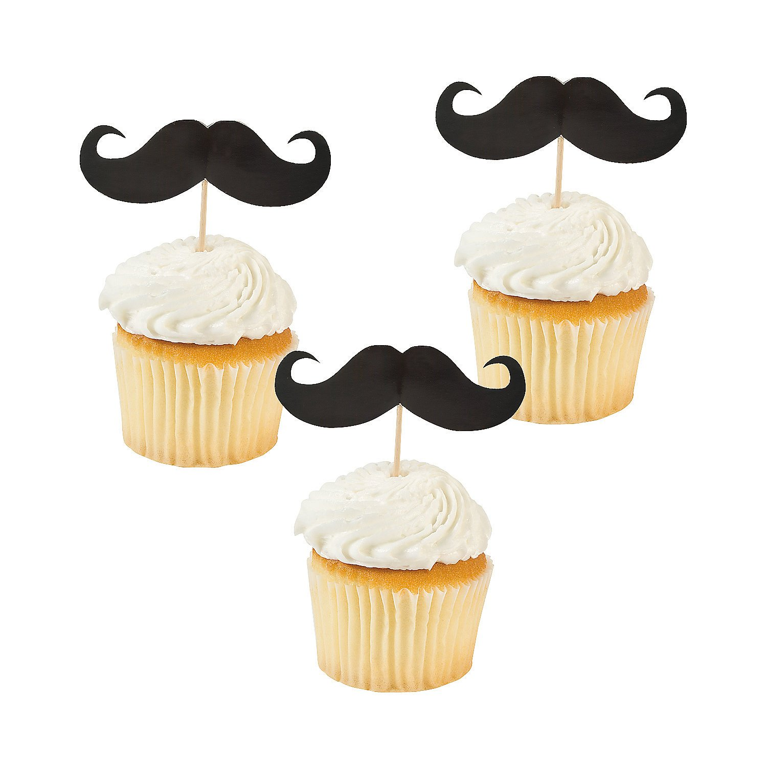 mustache food picks