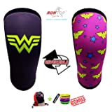 Knee Sleeves (1 Pair) 7 mm Neoprene Best Knee Supports Pain Compression Brace Cap for Squats, Crossfit WODS Weightlifting Powerlifting Strong Knee Pads for Men Women (M, Wonder Woman) (Color: Wonder Woman, Tamaño: M)