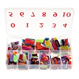 Baisidai 540 Pcs 27 Color French False Acrylic Gel Nail Art Tips Half with Box Salon Set (Color: Colorful)