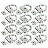 DasMarine 12 Pack D-Ring Tie Downs, 1/4