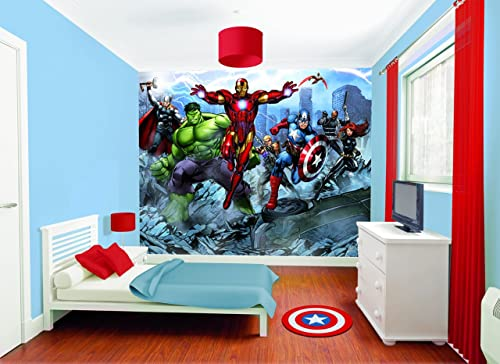 Marvel comics wall decals tktb for Avengers wall mural amazon