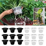 Gold Happy 10 PCS Mesh Net Pot, Plants Mesh Net Pot Cup, Basket for Hydroponics Planting Grow Aquaculture 4.33 inch Outside Diameter Garden Supply (Color: White)