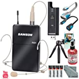 Samson XPD2 Headset USB Digital Wireless Microphone System with Broadcast Accessory Bundle