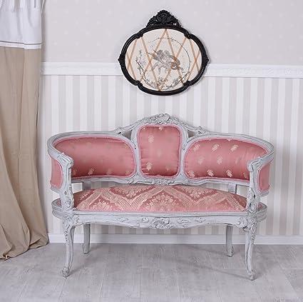Traumsofa Rosa Bezug Sofa Barock Sitzbank Barocksofa Salonsofa