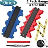 EtekStorm 6 Pack Contour Gauge Profile Gauge 10 Inch(25cm) Irregular Shape Copy Tool with ABS Bolts and Nuts-Ultimate Template Tool and Tape Measure