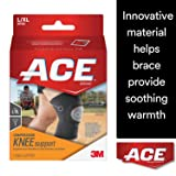 ACE Compression Knee Support LG/XL 1 Each (Color: Black, Tamaño: Large/Extra-Large)