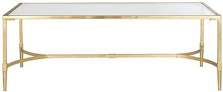 Safavieh EAF2547A Couchtisch, Metall, gold / glas, 127 x 66 x 45.72 cm