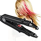 Professional Hair Extensions Tool Fusion Heat Iron Connector Wand Melting Tool Black BlueTop (Color: Black-A)