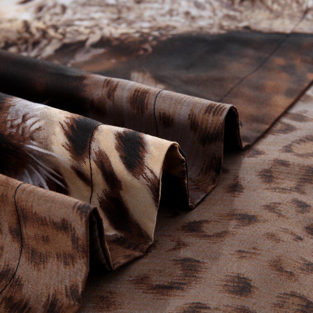 Beddinginn 4 Pieces 3d 100% Cotton Bedding Sets Sexy Leopard Cheetah Animal Print Duvet Cover Set,Bed Fashion (King)