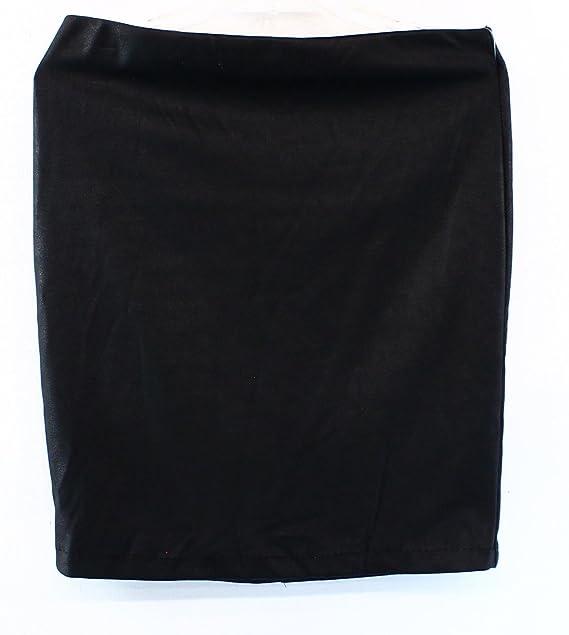 Studio M Leatherette Ponte Women's Straight Pencil Skirt