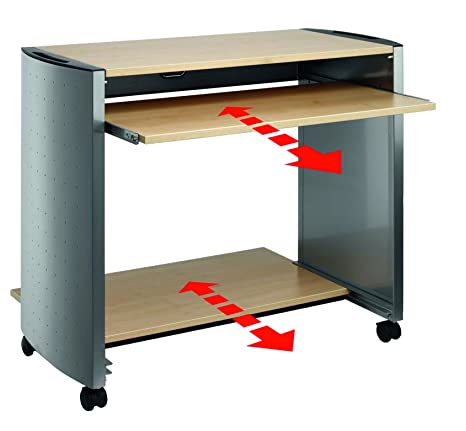 Durable Design Line PC Work Station - Metallic/Maple