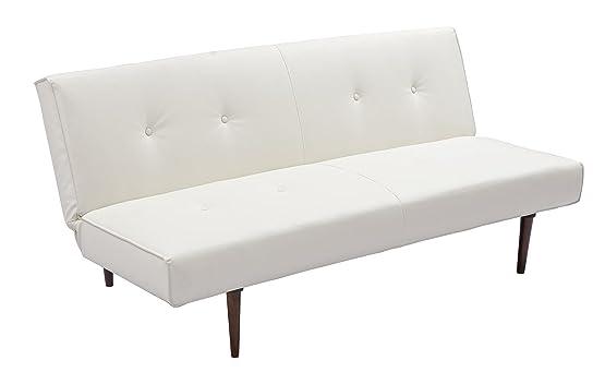 Bizzotto Sixty Divano Letto, Tessuto, Bianco, 180 x 90 x 82 cm