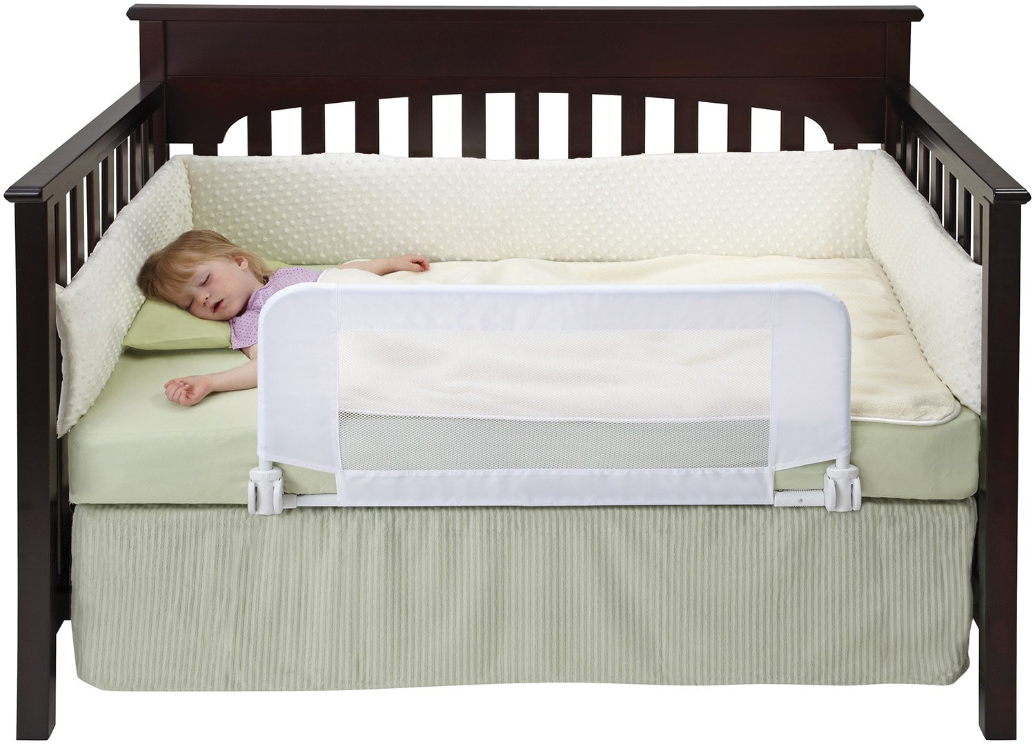 Baby crib youth bed -  Kids Furniture Babyu0026 39 Crib To Bed Furniture Buy Dexbaby Safe Sleeper Convertible Crib Bed Rail White Online At