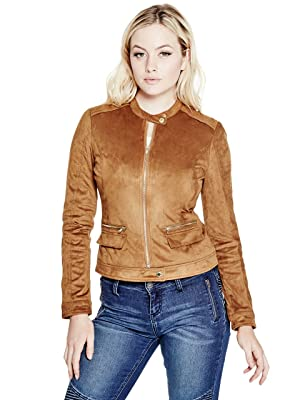 G by GUESS Women's Aisha Faux-Suede Jacket