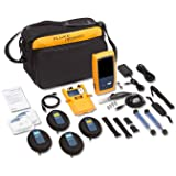 Fluke Networks OFP-100-QI OptiFiber Pro Quad OTDR Fiber Optic Cable Tester with Built-In VFL and Inspection Kit (Tamaño: With quad OTDR module and inspection kit)