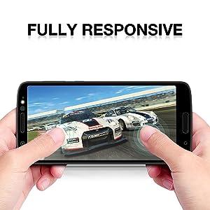 the latest 0b50e 3095b Moto G6 Plus Screen Protector Full Coverage, 2 Pack Niyattn Tempered ...