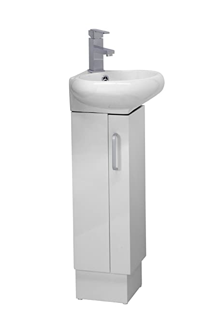 CORNER BATHROOM VANITY SET - MILAN - WHITE