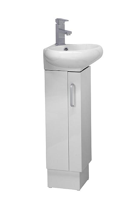 CORNER BATHROOM VANITY SET - MILAN - WHITE