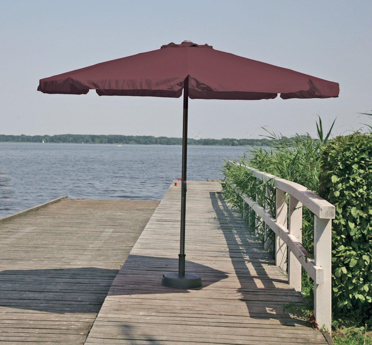 Alu-Marktschirm Sonnenschirm Gartenschirm Schirm ca. 300 cm mocca günstig bestellen