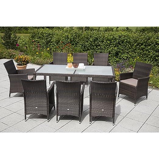 MERXX Gartenmöbel-Set Pesaro 17-tgl. Sessel inkl. Sitzkissen und Tisch 90x90 cm