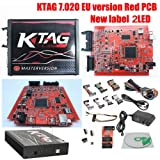 ECU Programming Tool Unlimited Token, KTAG Firmware V7.020 Software V2.23 ECU Programming Unit Master Version (Red) (Color: red)