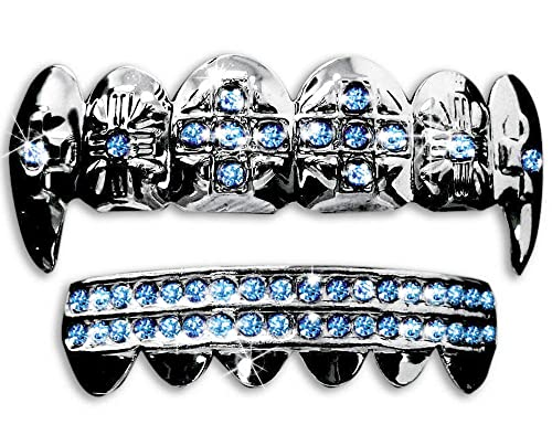 Silver Grillz Top And Bottom Top Bottom Grillz Set